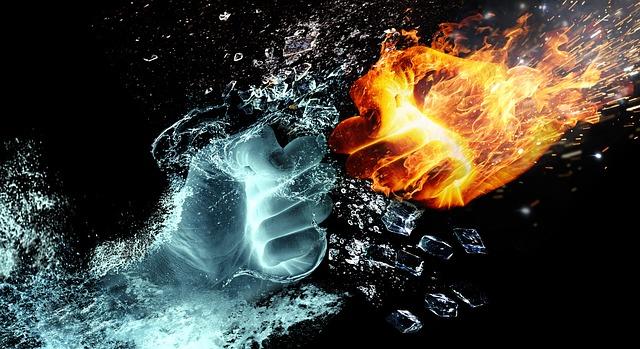 fire and water 2354583 640 - Handelskrieg, Währungskrieg und fallende Aktienkurse